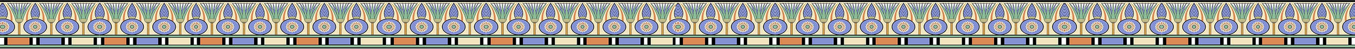 Egyptian decorative border